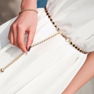 Accessories - Pearl beads waist body chain belt NWT